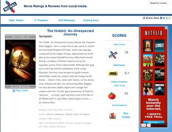 Buzzscale – movie ratings from social media