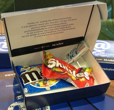 Mars Tweet Shop – student vending machines dispense treats for tweets