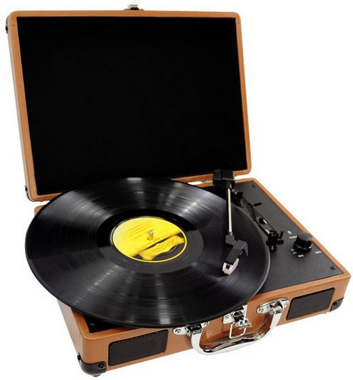 pyleretrostyleturntablebriefcase Pyle Retro Rechargeable Briefcase Turntable   charge it, carry it, play it loud...