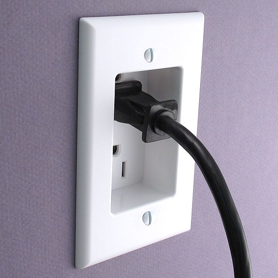 Make a room look flawless with the Recessed Outlet Cover Plate