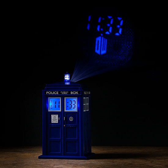 Doctor Who TARDIS Projection Alarm Clock puts time in two places at once!
