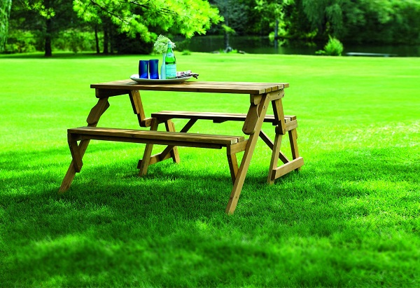 Interchangeable Picnic Table and Garden Bench – more than meets the eye!