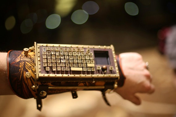 Typewriter Arm Guard – Steampunk gadgetry at its finest