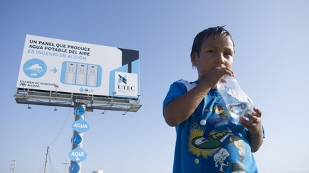 billboardinperu1 A billboard that produces water   a great hydrating solution