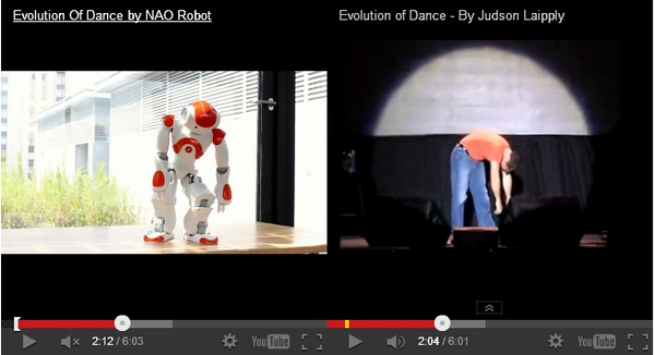 Mashup! – NAO Robot vs Judson Laipply…The Evolution Of Dance