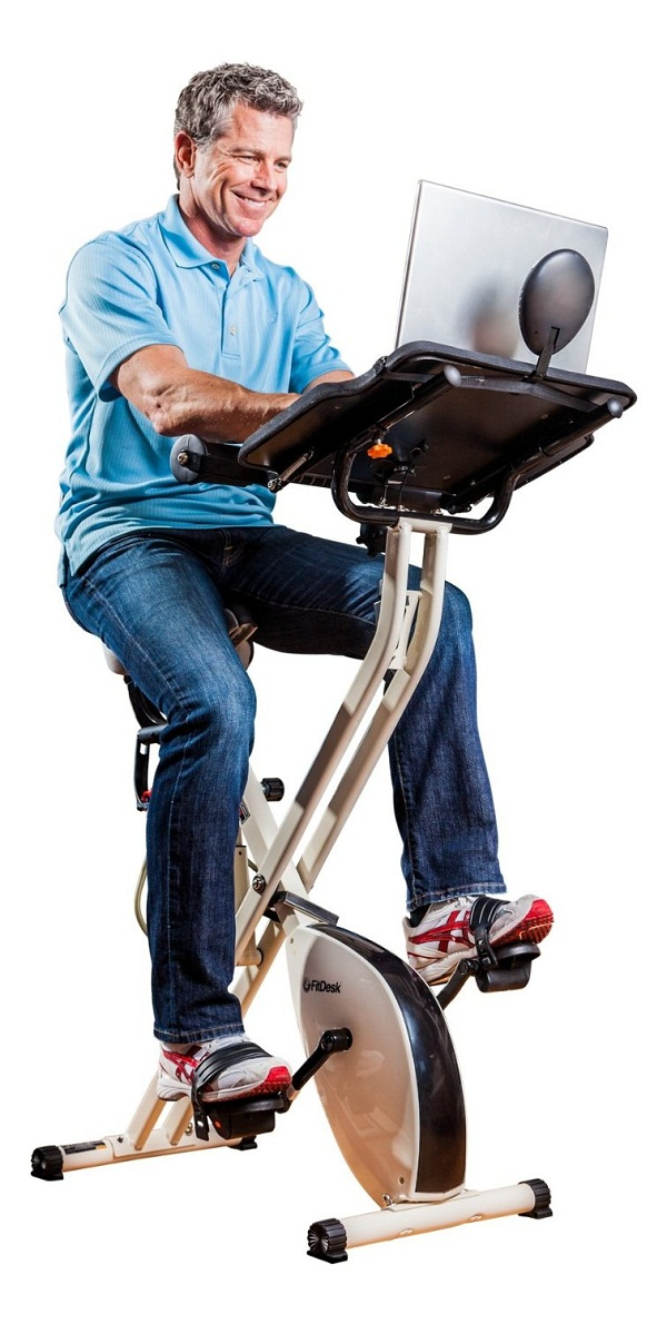 FitDesk X1 Folding Exercise Bike will help you pedal away a work deadline