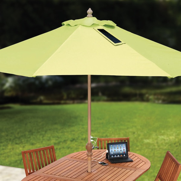 Solar Charged Umbrella will work while you play