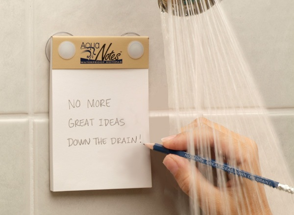 AquaNotes – because some of the best ideas come in the shower
