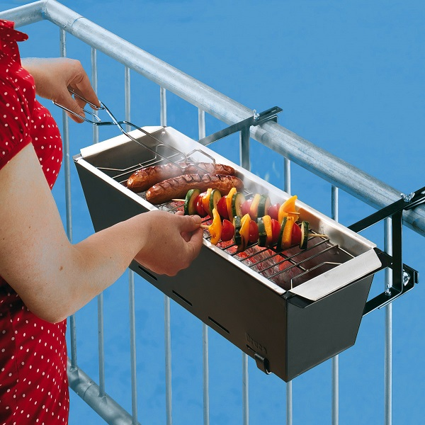 You can't have a balcony BBQ without the Handrail Grill