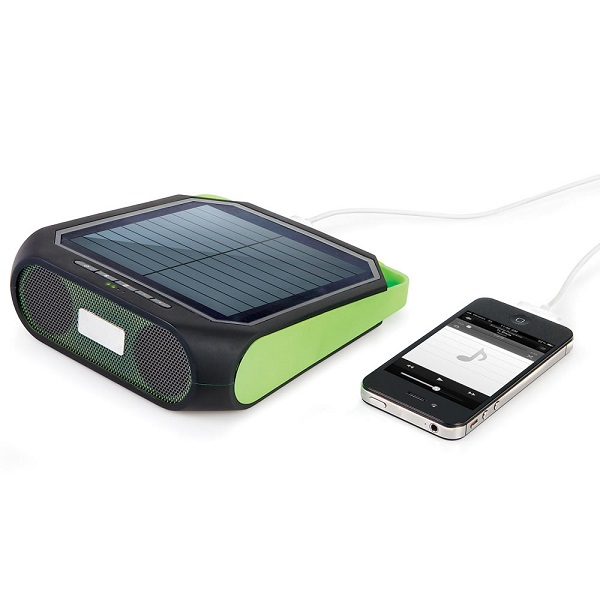 The Portable Solar Powered Speaker – fun in the sun!