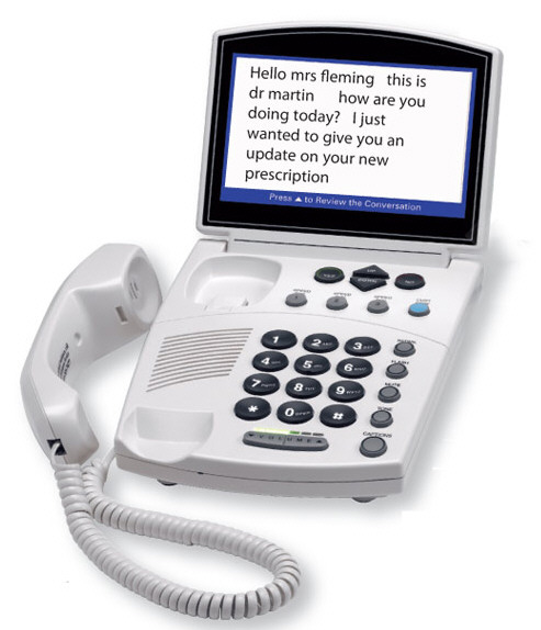 captionedtelephone Captioned Telephone lets you see your calls as well as hear them