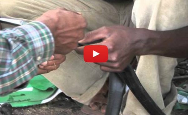 How to Fix A Bicycle Tube Without Glue – African Style