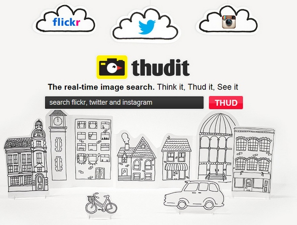 Thudit – real time image search from Flickr, Instagram and Twitter