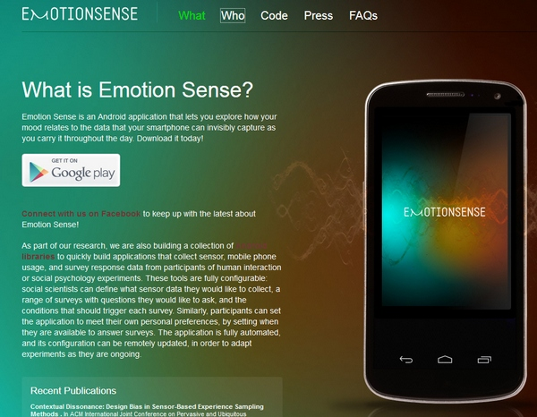 EmotionSense – get in touch with the real you, with a little help from technology [Freeware]