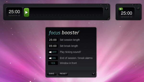 Focus Booster – get things done by making time your slave [Freeware]