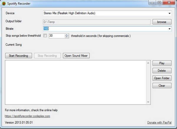 Spotify Recorder – save your favorite songs to hard disk for those un-connected times [Freeware]