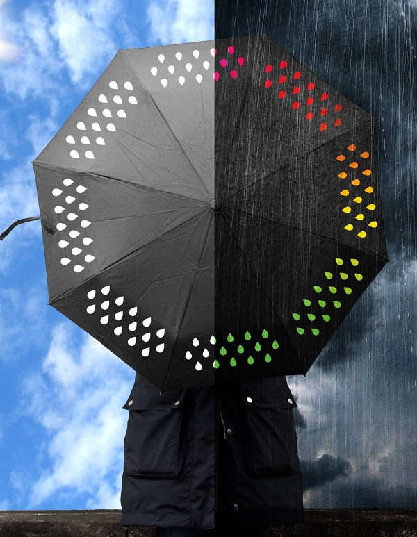 Color Change Umbrella will brighten up a rainy day