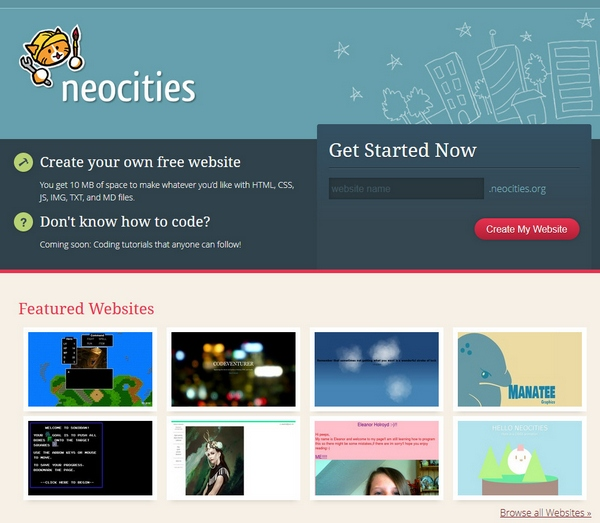 Neocities – yay…Geocities is back and it wants you to enjoy yourself all over again