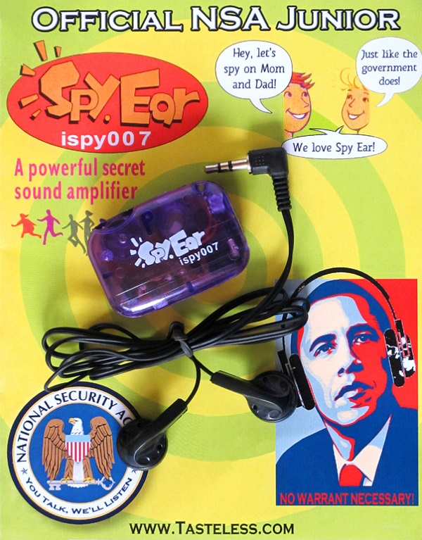 NSA Junior Spy Ear Listening Device – for when your own conversations aren't interesting enough