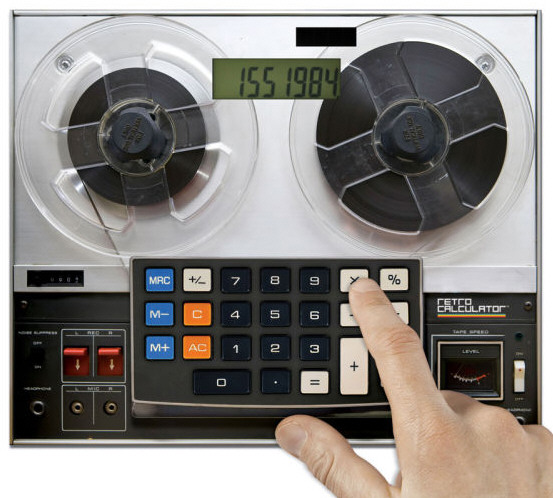 Retro Tape Deck Calculator – reliving the rewind years