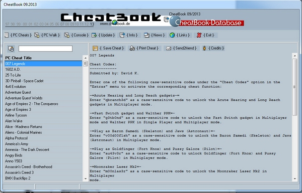 CheatBook Database 2013 – the ultimate game cheat guide, hidden amongst five pages of deliberately confusing Download ads from Google [Freeware]