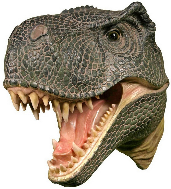 Wall Mounted T-Rex Dinosaur Head – show 'em all you mean business