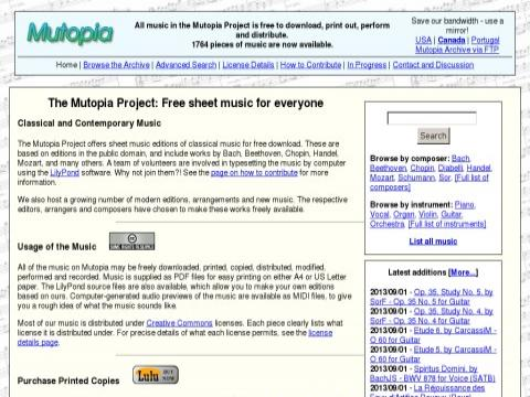 mutopiaproject.org