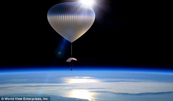 75K Edge of Space Balloon Ride with Bar – it's like Cheers… in space