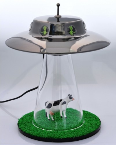 Alien Abduction Lamp – nothing says Halloween better than aliens stealing our cows