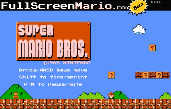 Fullscreen Mario – play the full Super Mario Bros game in your browser