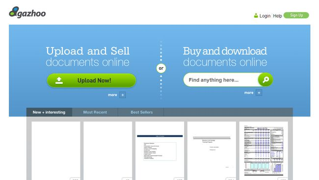 Gazhoo.com - Sell Documents Online