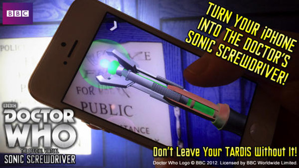 Official Doctor Who Virtual Sonic Screwdriver iPhone App – arm yourself like a Time Lord