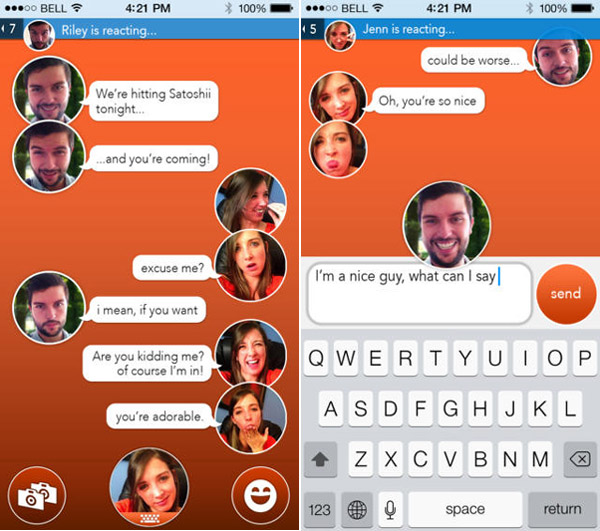 React Messenger – Let your selfie get in on the conversation [Freeware]