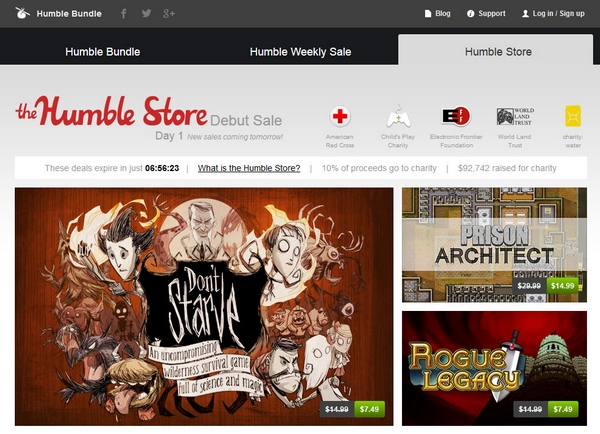 The Humble Store – ultra cheap games for pleasure and charity