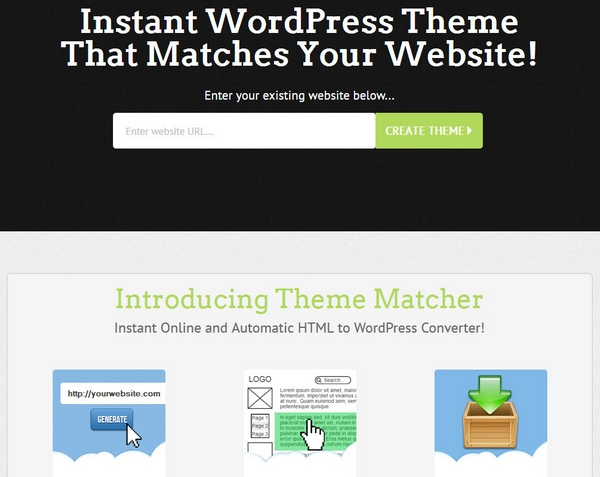 Theme Matcher – instantly create a WordPress theme from any site