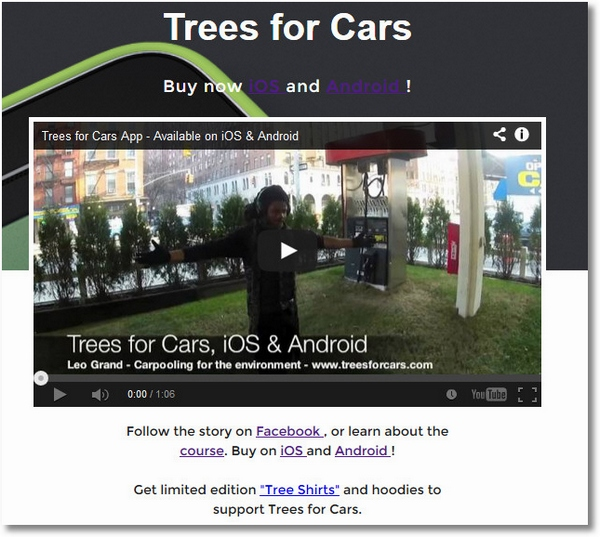 Trees For Cars – homeless man taught to code releases first smartphone app after just 4 months