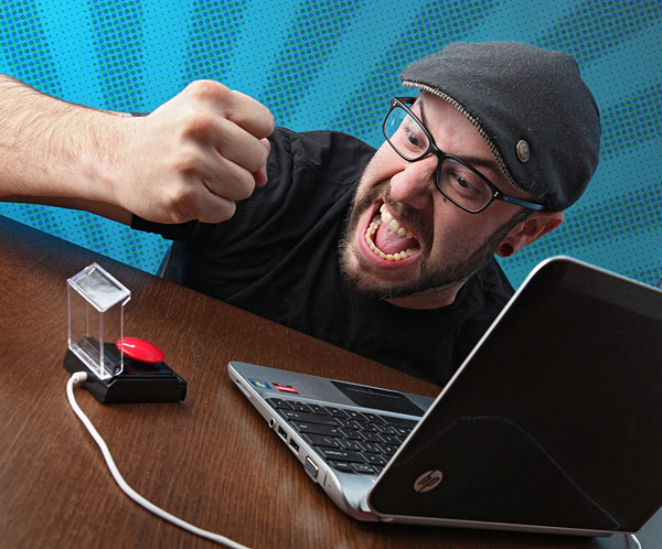 Big Red Button USB Powered Rage Relief Device – Just punch it to feel better