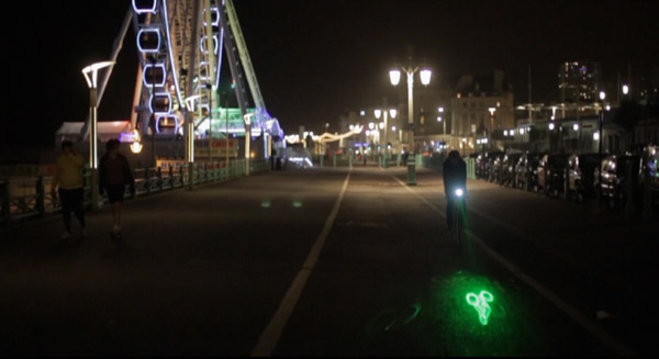Blaze Laserlight – Little laser bicycle dude will let people ahead of you know you're coming