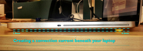 DIY Convection Currents Help Laptop Keep Its Cool 4
