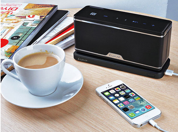 GroovyW – The World's First Bluetooth NFC Wireless Charging Station Speaker