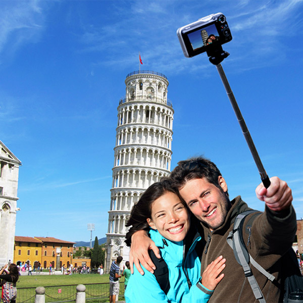 Telescoping Selfie Arm – Put some distance between the phone and your face.