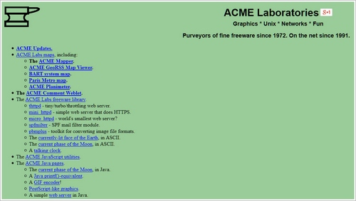 acme Our Tribute to 25 Years of The World Wide Web   7 Sites Which Show Just How Amazing The Web Really Is