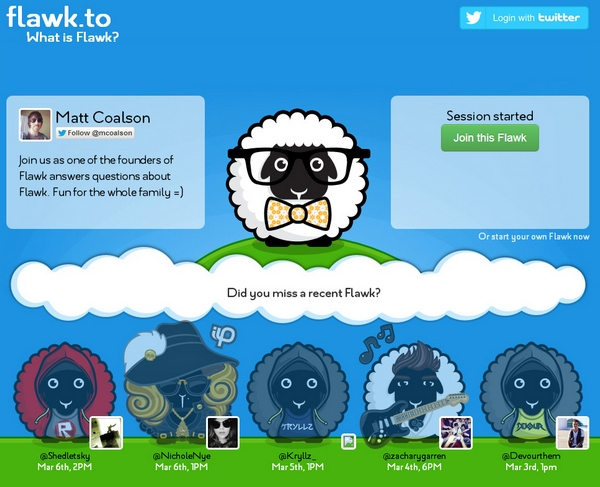 Flawk – this Twitter integrated instant Q & A chat service is going to be huge