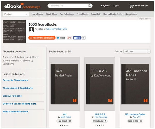 1000 Free E-Books – available for free download [Freeware]
