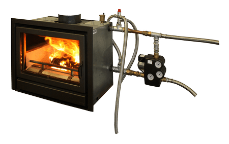 infire680watersystem New energy saving woodstove captures and uses heat for water