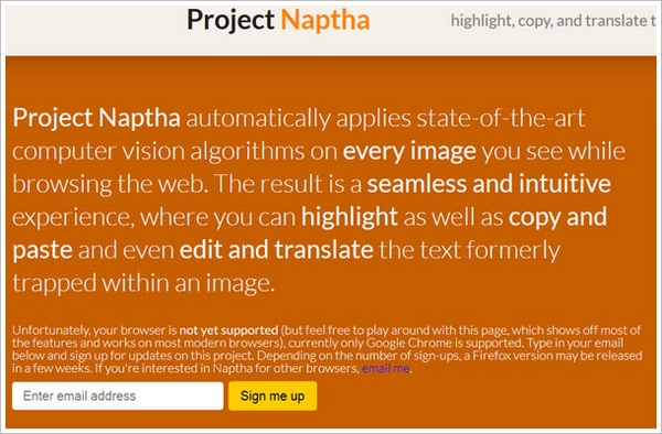 Project Naptha – amazing new browser tool lets you grab, erase or translate text from images or scans [Freeware]