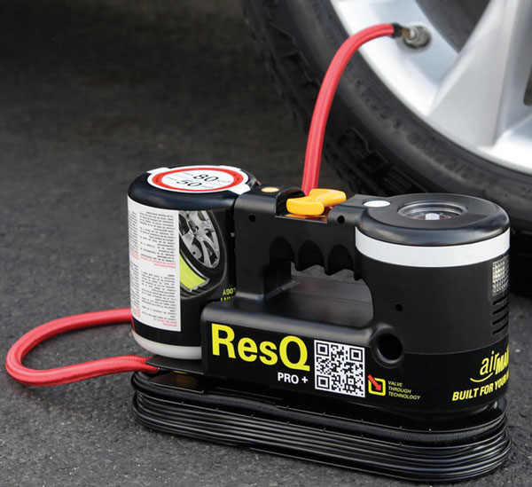 resqplustirerepairerinflator ResQ Plus   automatic tire repairer and inflator
