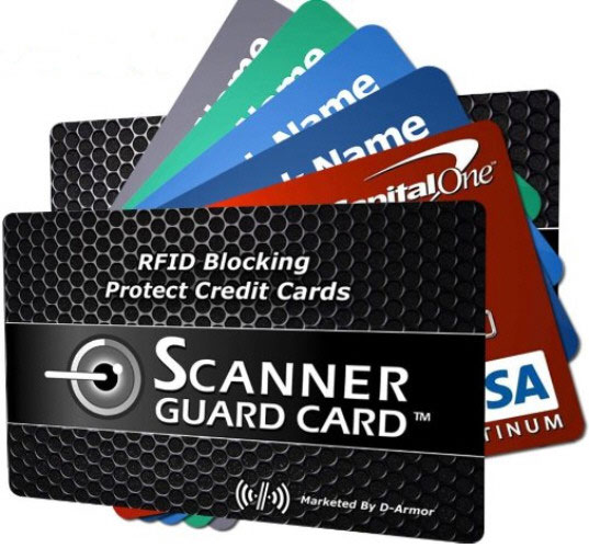 Scanner Guard Card – block your credit cards from RFID theft