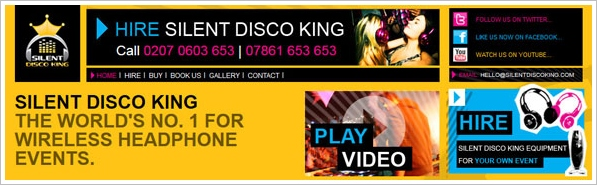 Silent Disco King – hire your own silent disco and partaaay….