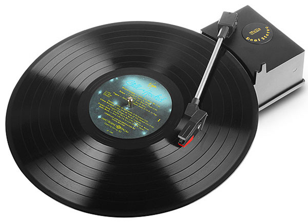 USB Mini Turntable Capture & Player – digitize your vinyl classics with this portable gizmo